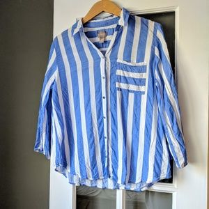 ‼️ Chicos Stripe Blouse Size 2